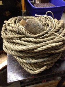 massive coil of rope