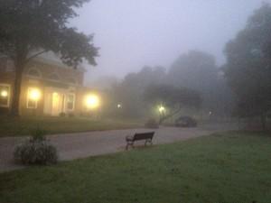 Hanover in the fog