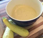 Cold curried yellow squash soup