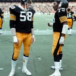 Jack Lambert (linebacker) and Mean Joe Green (defensive end)